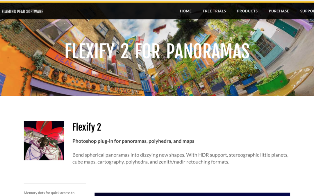Flexify 2がかなりよい|パノラマ写真の足元修正、Photoshop plugin